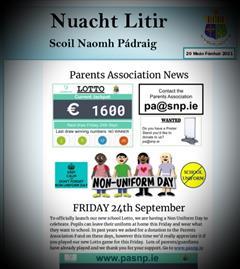 Weekly Newsletter - 20th September 2021