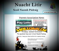 Weekly Newsletter - Monday 18th October 2021